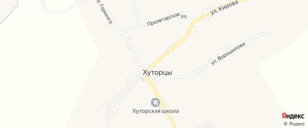 Улица Кирова на карте села Хуторцы с номерами домов