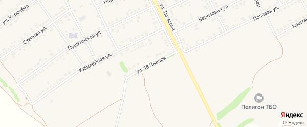 Улица 18 Января на карте поселка Вейделевки с номерами домов