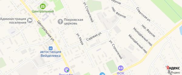 Садовая улица на карте поселка Вейделевки с номерами домов