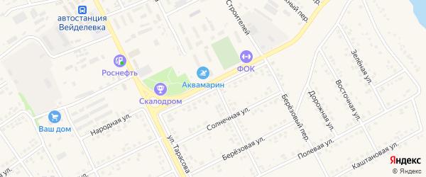 Парковая улица на карте поселка Вейделевки с номерами домов