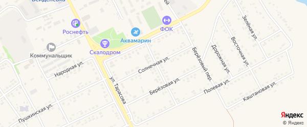 Солнечная улица на карте поселка Вейделевки с номерами домов
