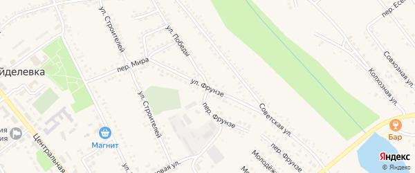 Улица Фрунзе на карте поселка Вейделевки с номерами домов