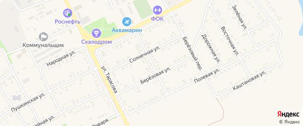 Дачная улица на карте поселка Вейделевки с номерами домов