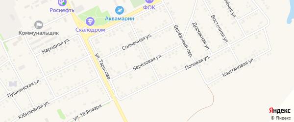 Березовая улица на карте поселка Вейделевки с номерами домов
