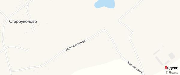 Зареченская улица на карте села Староуколово с номерами домов