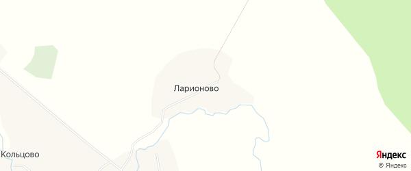Карта деревни Ларионово в Архангельской области с улицами и номерами домов