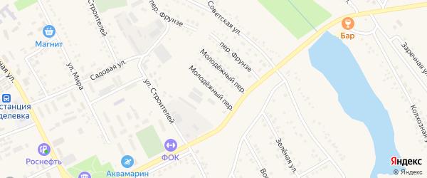 Молодежный переулок на карте поселка Вейделевки с номерами домов