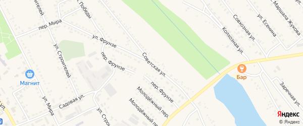 Советская улица на карте поселка Вейделевки с номерами домов