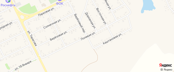 Полевая улица на карте поселка Вейделевки с номерами домов