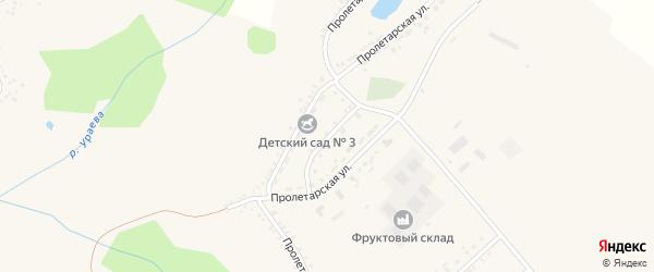 Пролетарский переулок на карте поселка Вейделевки с номерами домов