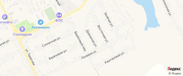 Дорожная улица на карте поселка Вейделевки с номерами домов