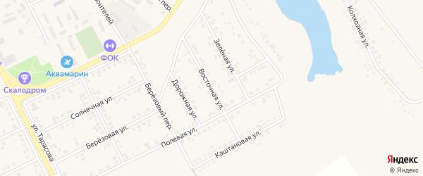 Восточная улица на карте поселка Вейделевки с номерами домов