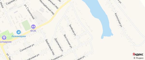 Зеленая улица на карте поселка Вейделевки с номерами домов