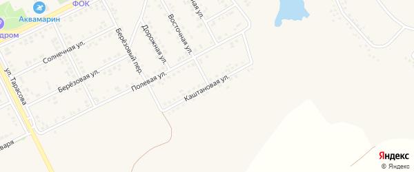 Каштановая улица на карте поселка Вейделевки с номерами домов