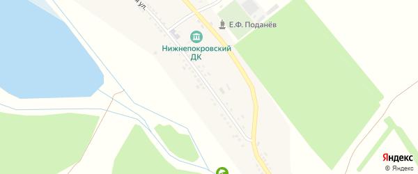 Мирная улица на карте села Нижней Покровки с номерами домов