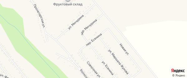 Переулок Есенина на карте поселка Вейделевки с номерами домов