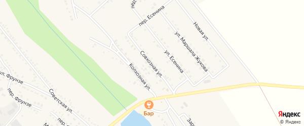 Совхозная улица на карте поселка Вейделевки с номерами домов