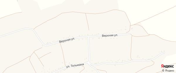 Верхняя улица на карте села Расховца с номерами домов