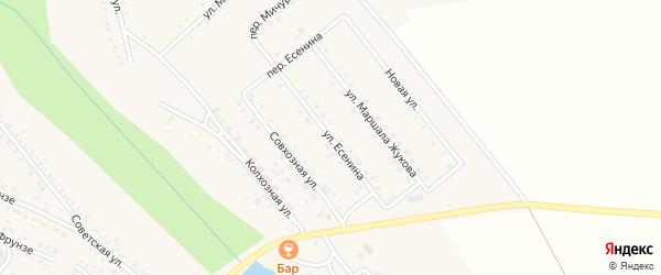 Улица Есенина на карте поселка Вейделевки с номерами домов