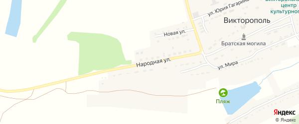 Улица Кулика на карте поселка Викторополя с номерами домов