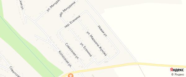 Улица Маршала Жукова на карте поселка Вейделевки с номерами домов