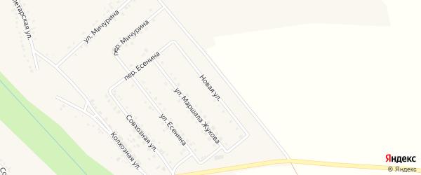 Новая улица на карте поселка Вейделевки с номерами домов