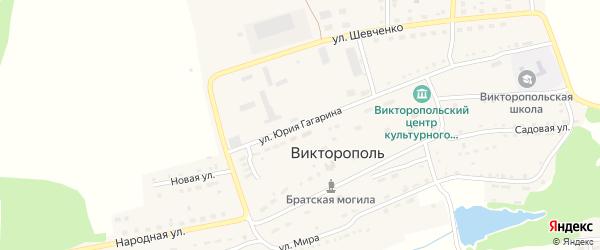 Улица Ю.Гагарина на карте поселка Викторополя с номерами домов