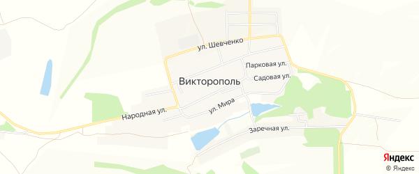 Карта поселка Викторополя в Белгородской области с улицами и номерами домов