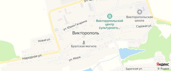 Зеленая улица на карте поселка Викторополя с номерами домов