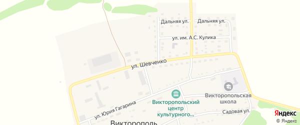 Улица Шевченко на карте поселка Викторополя с номерами домов