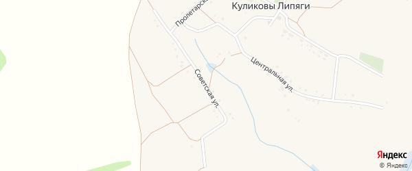 Советская улица на карте села Куликовы Липяги с номерами домов