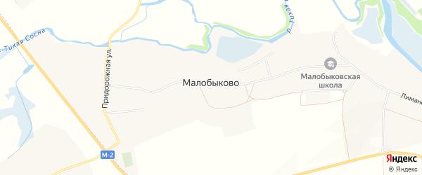 Карта села Малобыково в Белгородской области с улицами и номерами домов