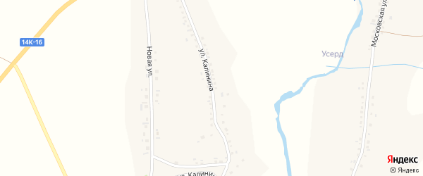 Улица Калинина на карте Стрелецкого села с номерами домов