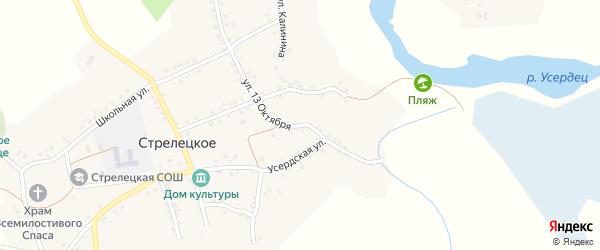 Улица 13 лет Октября на карте Стрелецкого села с номерами домов