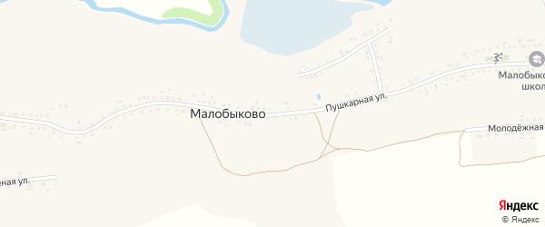 Пушкарная улица на карте села Малобыково с номерами домов