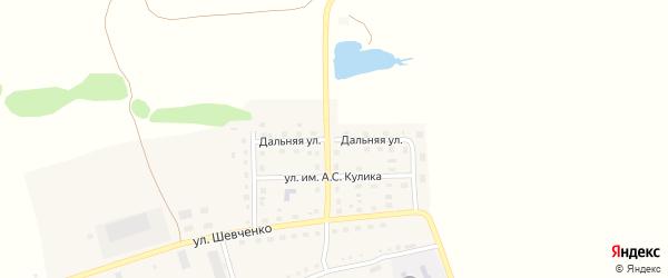 Дальняя улица на карте поселка Викторополя с номерами домов