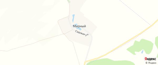 Карта Мирного поселка в Белгородской области с улицами и номерами домов