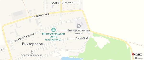 Парковая улица на карте поселка Викторополя с номерами домов