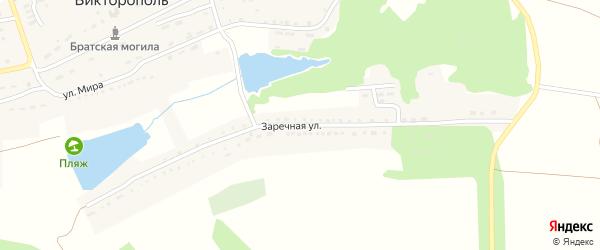 Заречная улица на карте поселка Викторополя с номерами домов