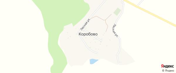 Лесная улица на карте хутора Коробово с номерами домов