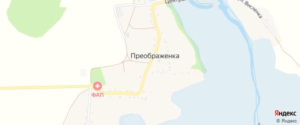 Центральная улица на карте села Преображенки с номерами домов