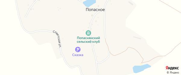 Улица Гагарина на карте хутора Попасного с номерами домов