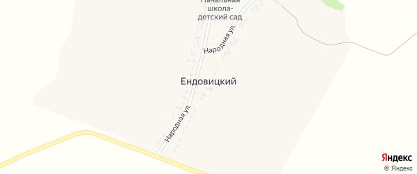 Народная улица на карте Ендовицкого хутора с номерами домов
