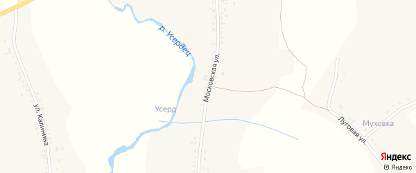 Московская улица на карте Казацкого села с номерами домов