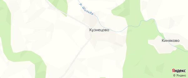Карта деревни Кузнецово в Архангельской области с улицами и номерами домов