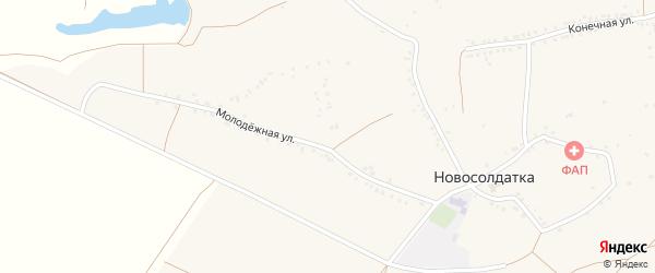 Молодежная улица на карте села Новосолдатки с номерами домов