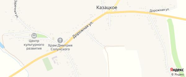 Дорожный переулок на карте Казацкого села с номерами домов