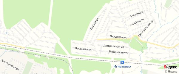Карта садового некоммерческого товарищества Зари города Майкопа в Адыгее с улицами и номерами домов