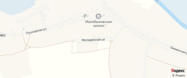 Молодежная улица на карте села Малобыково с номерами домов