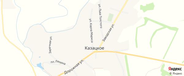 Карта Казацкого села в Белгородской области с улицами и номерами домов